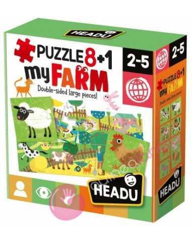 Puzzle 8+1 my FARM - Headu