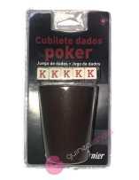 Cubilete Dados Poker -...
