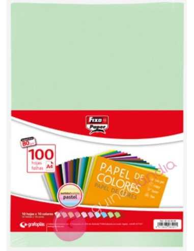Papel Colores Pastel A4 100 Hojas