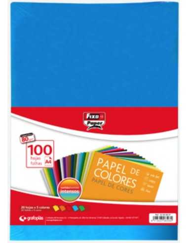 Papel Colores Intensos A4 100 Hojas