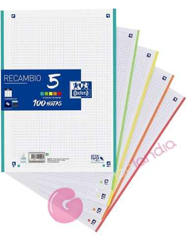 Recambio 5 colores A4 5x5 100 hojas