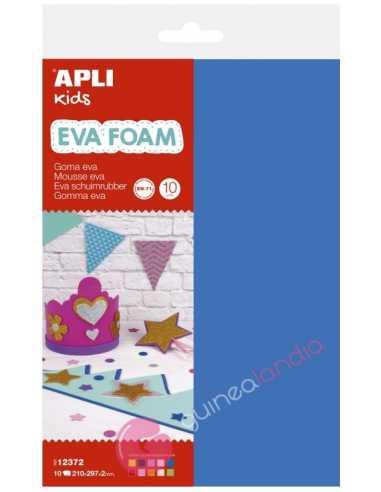 Goma EVA multicolor A4 10 hojas