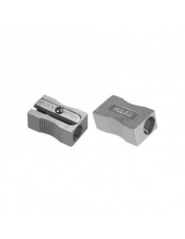 Sacapuntas de aluminio rectangular