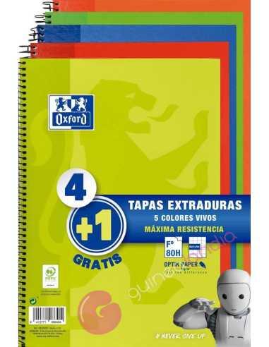Pack Cuaderno 4+1 Tapa extradura 80...