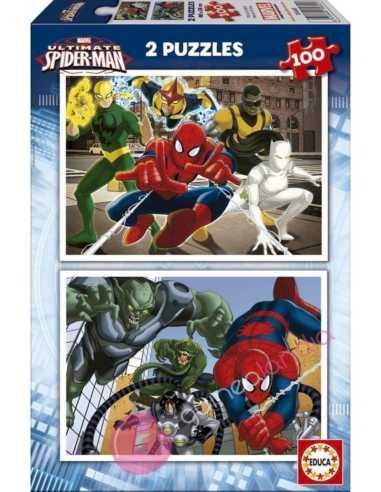 Puzzle Spiderman 2x100 piezas