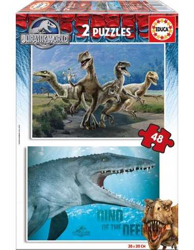 Puzzle Jurassic World 2x48 Piezas
