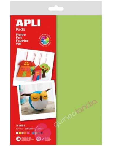 Fieltro Multicolor A4 10 hojas - Apli