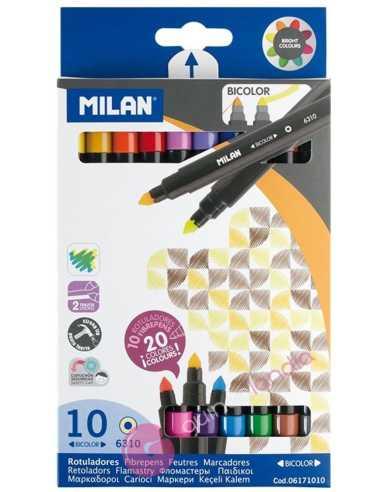Rotuladores Bicolor 10 - Milan