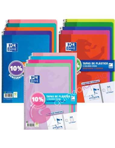 Pack 5 Cuadernos A4 80 hojas 4X4 Tapa...