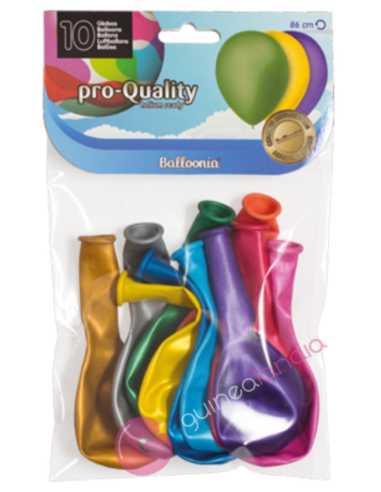 Globos Pro-Quality Metalizados 10 uds