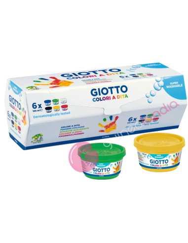 Pintura Dedos 6 botes de 100ml - Giotto