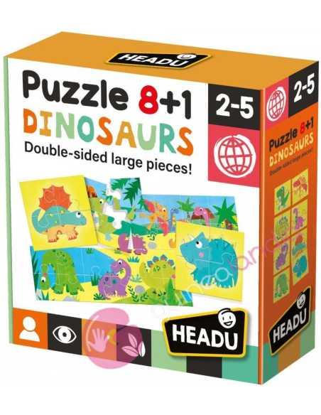 Puzzle 8+1 Dinosaurios - Headu