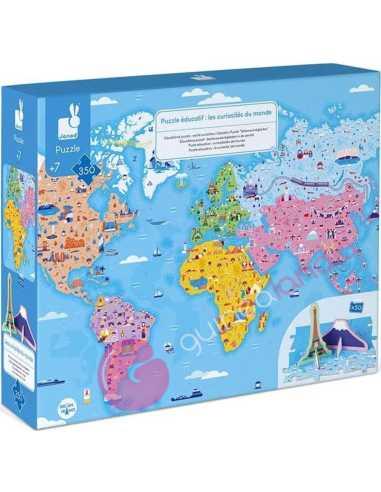 Puzzle Educativo Curiosidades Del Mundo