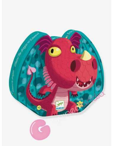Puzzle Edmon el Dragon 24 pzs Djeco