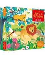 El zoo (libro y 3 puzzles 9...
