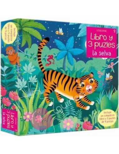 La selva (libro y 3 puzzles 9 pzs)