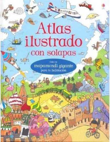 Atlas ilustrado con solapas