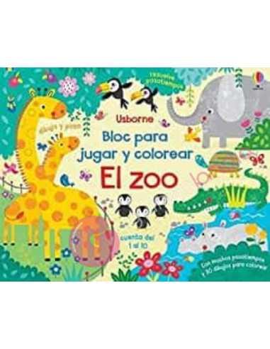 El zoo: Bloc para jugar y colorear