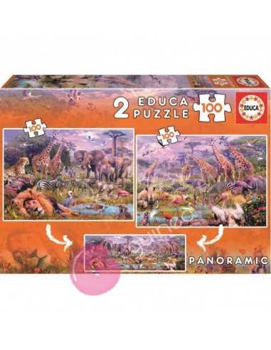 Animales salvajes 2 Puzzles 100 pzs...