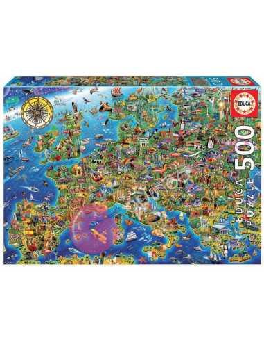 Mapa de Europa Puzzle 500 piezas - Educa