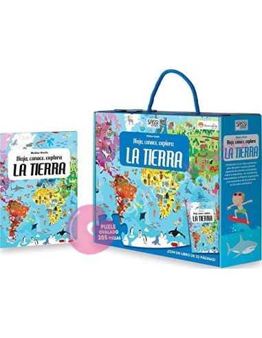 Libro puzzle. La tierra: viaja,...