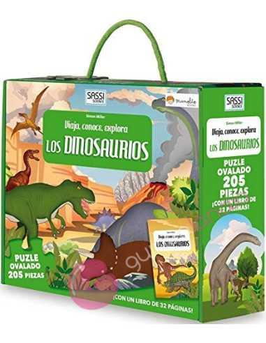 Libro puzzle. Los dinosaurios: viaja,...
