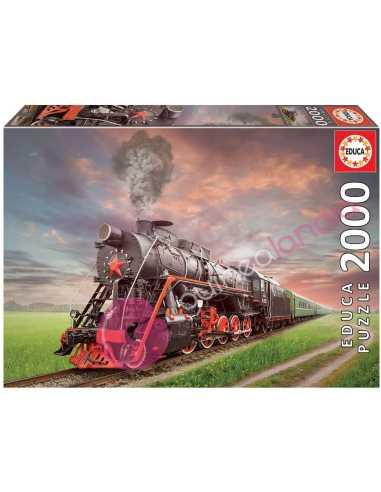 Locomotora de vapor Puzzle 2000...
