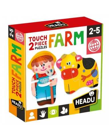 Touch 2 pieces puzzle Farm Headu