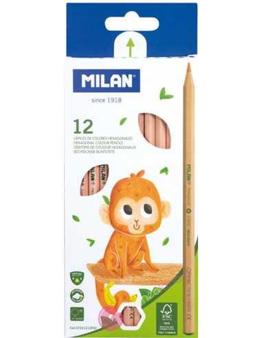 Caja 12 Lápices De Colores - Milan