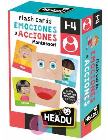 Flashcards Montessori Emociones y Acciones - Headu