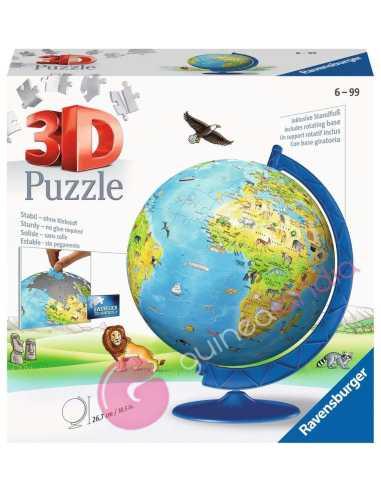 Puzzle 3D Globo Geográfico 180 piezas