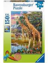 Puzzle Jirafas en África 150 piezas