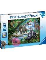 Puzzle Animales de la selva 100 piezas