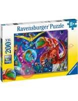 Puzzle Dinosaurios espaciales 200 piezas