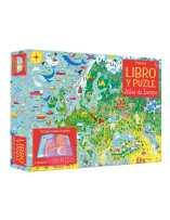 Libro puzzle Atlas de Europa 300 piezas