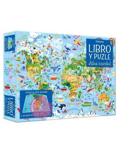 Libro puzzle Atlas mundial 300 piezas