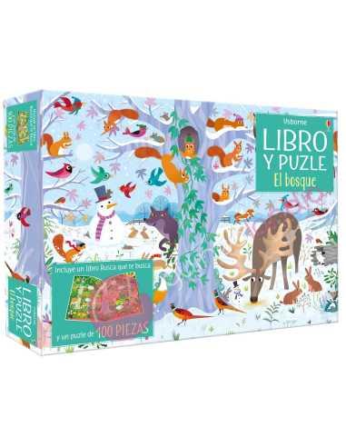 Libro puzzle El bosque 100 piezas