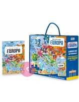 Libro puzzle Europa: viaja, aprende y explora 210 piezas