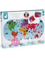 Mapa Del Mundo De Baño Puzzle 28 piezas